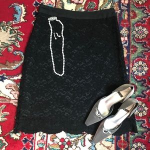 Black lace skirt by Trulli